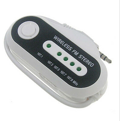 Universal FM Transmitter Frequency Channel range: 107.1MHz, 107.5MHz & 107.9MHz.