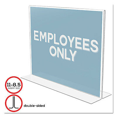 Classic Image Stand-Up Double-Sided Sign Holder, Plastic, 11 x 8 1/2 Insert