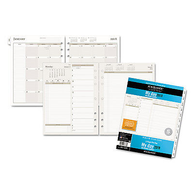 Day Runner Daily / Monthly Planner Refill 2017, 2 Page Per Day, 8 ...