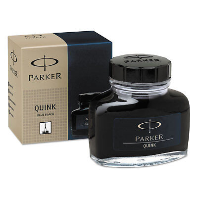 Super Quink Permanent Ink for Parker Pens, 2 oz Bottle, Blue/Black