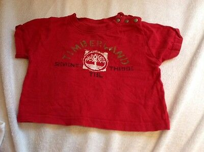 Timberland Red 9-12 Months Boys T Shirt