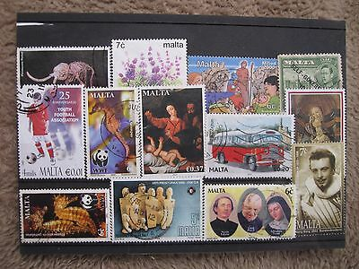 SELECTION OF STAMPS OF MALTA, FINE USED  CARD 1,ONLY £0.99p    POST PAID