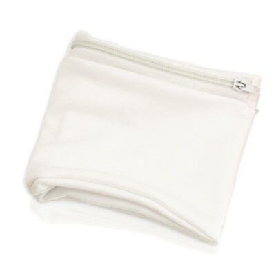Wristband with Zip Sports Wallet Gym Wrist Purse Zipped Pocket White