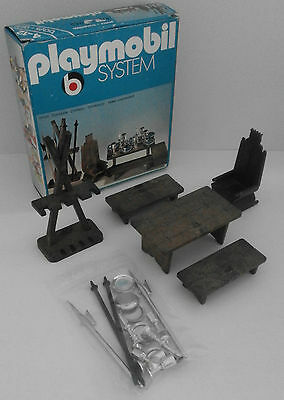 "Rare 1976 vintage Playmobil System 3262 ""Medieval furniture & weapons)"" OVP Box"