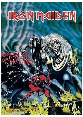 Iron Maiden deluxe number of the beast textile Poster Flag