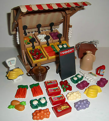 Playmobil 7615 Market Stand complete plus many extras