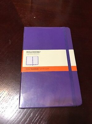"Moleskine 5""x8.25"" Ruled Notebook Diary Purple"