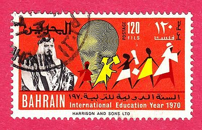 Bahrain Stamps. 1970 International Education Year 120f. SG179. Used. #3039