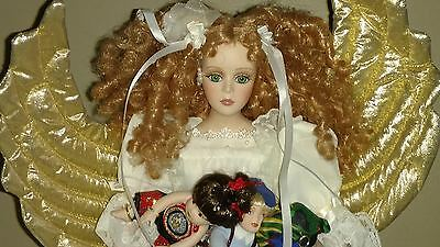 "Seymour Mann Angel 16"" Porcelain Doll HOPE New in Box, Limited Edition 7500"