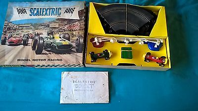 Vintage Scalextric Motor Racing Set no 30 - early 60's