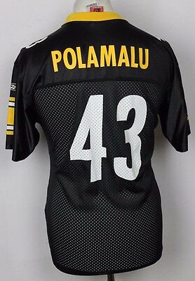 Polamalu 43 Pittsburgh Steelers American Football Jersey Youths Xl Nfl Reebok