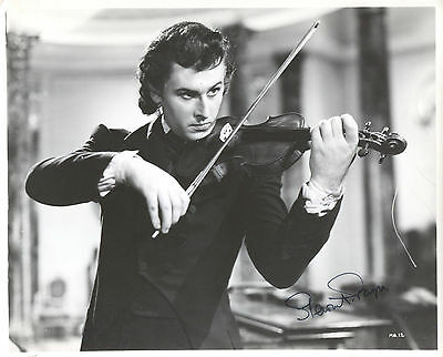 """STEWART GRANGER in THE MAGIC BOW (1946) Hand-signed 8"""" x 10"""" portrait"""