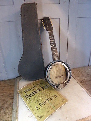 Antique mandolin in case
