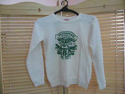 Levi's Vintage Clothing 1970's Sweatshirt for kids white & green print -S