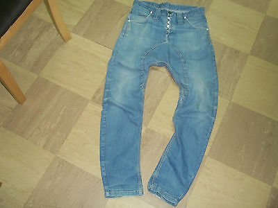 MENs jeans humor size 30 waist 34 leg button fly