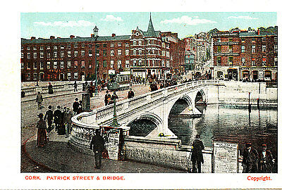 IRELAND - Pre 1918 Postcard of Patrick Stret & Bridge, CORK