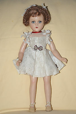 """Vintage 18"""" Tagged Madame Alexander Wendy Ann Composition Doll With Braids"""