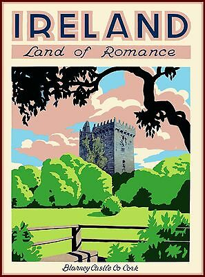 Blarney Castle Co Cork Ireland Vintage Travel Advertisement Art Poster Print