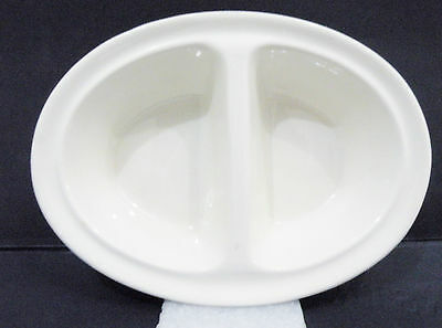 """Royal Staffordshire oval white two-compartment Divided Dish (7 1/4"""" x 5 1/8"""")"""