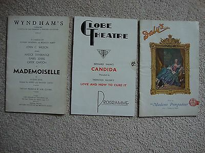 Three Vintage Theatre Programmes