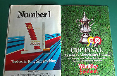 1979 Fa Cup Final Programme - Manchester United Signed Team Group X 7 Players
