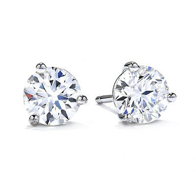 1.00Ct Round Diamond Stud Earring 925 Sterling Silver Solitaire Diamond Earring