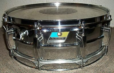 Vintage LUDWIG SUPRAPHONIC 5 X 14 SNARE DRUM - Blue and Olive Badge (#2)