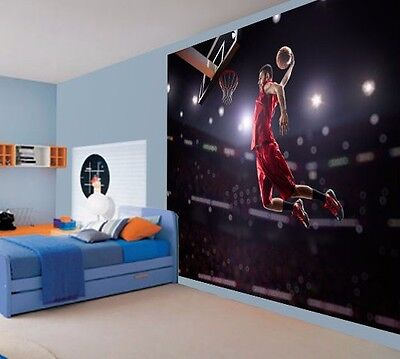 Cool basketball jump shot net wallpaper wall mural (38976613)