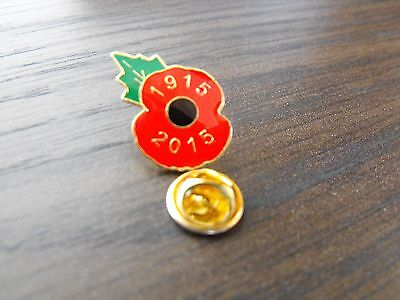 Poppy Lapel Pin Badge 1915-2015