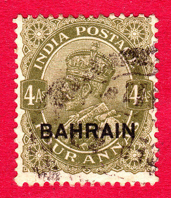 Bahrain Stamps. KGV 1934-7 4a. SG19. Used. #3045