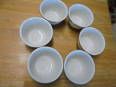 Set Of 6 Buffalo China Cups Without Handles - Made In Usa