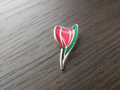 Flower Pink Tulip Charity Lapel Pin Badge