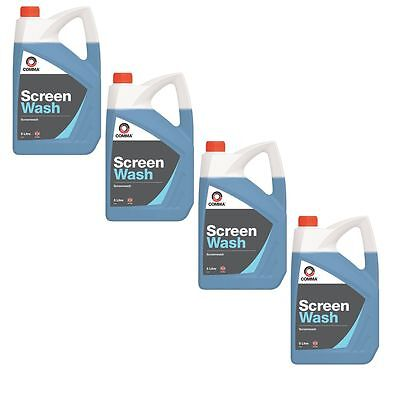 4 X Comma Xstream Screenwash 5L Highly Concentrated With Anti Smear Xsw5L