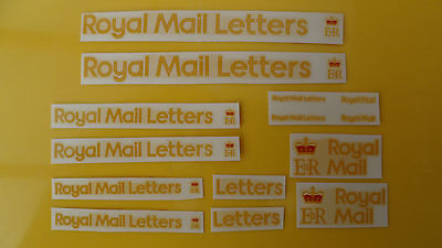 Mabex Royal Mail transfers/decals x 7 pair, lorry/truck/code 3