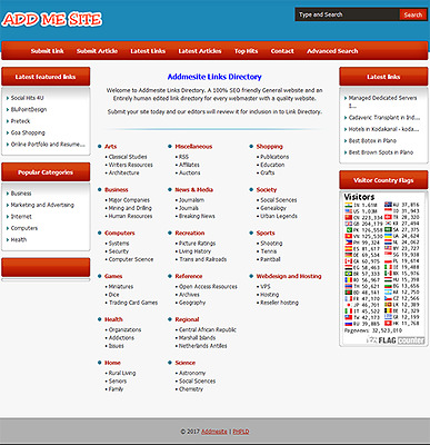 Links Directory - Fully Featured Website For Sale - Free One Month Hosting