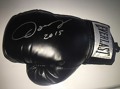 Black Everlast Glove Autographed By Oscar De La Hoya W/proof And C.O.A
