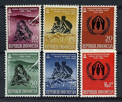 Indonesia 1960  World Refugee Year  Set Of 6   (Mh)