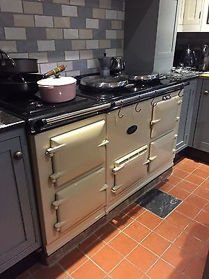 Fully Reconditioned Aga Cooker 4 Oven Gas in Cream