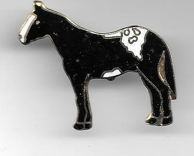 Vintage Appaloosa Horse large gold-like metal backing old cloisonne pin