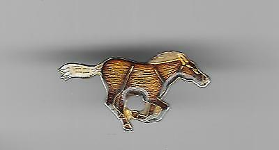 Vintage Palomino Horse at Full Gallop old enamel pin