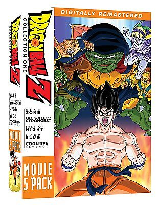 DRAGON BALL Z : 5 movie pack (remastered) - DVD - Region 1 sealed