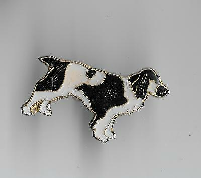 Vintage Welsh Springer Spaniel Dog small old old enamel pin