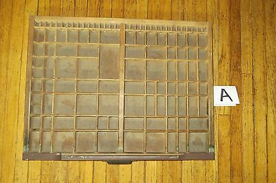 "VTG HAMILTON Wood Printer's Drawer, Shadow Box Wall Shelf, 16 1/2"" x 21 1/2"""