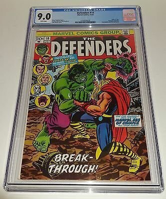 The Defenders #10 CGC 9.0 Marvel Comics 1973 Hulk vs Thor FREE SHIPPING! DEAL!!