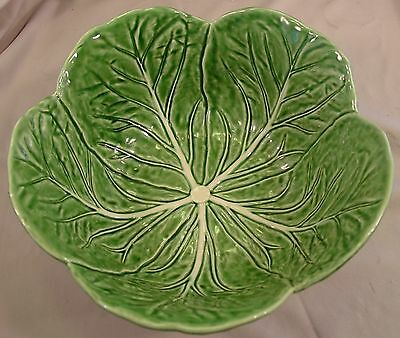 """11"""" Large Salad Serving Bowl in Cabbage Green by Bordallo Pinheiro """"MAJOLICA"""""""