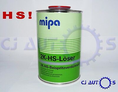Mipa 2K Loser Hs Fade Out Thinner 1L Litre Additive Blend Solvent Paint Thinners