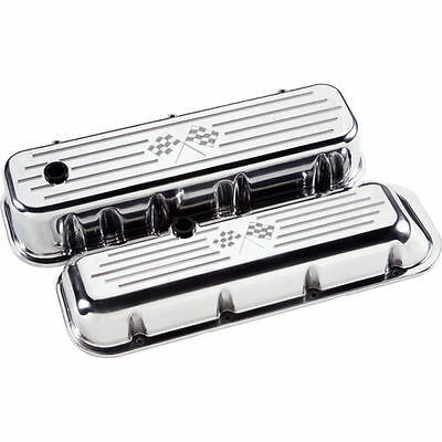 Billet Specialties 96027 Valve Cover CHEVY BBC Short Flag  Polished