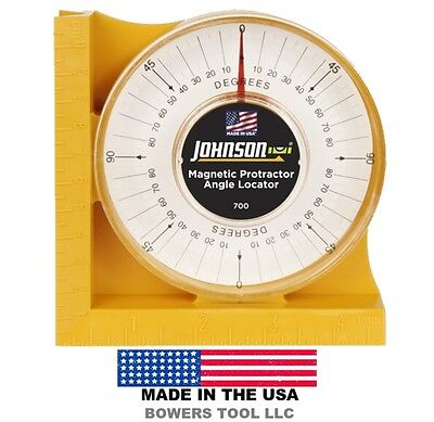 Johnson Protractor Angle Locator 0-90 Degrees 700 Magnetic Base Made in USA