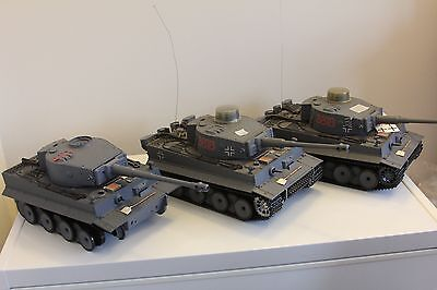 Three Heng Long Tiger Tanks Used Two Working One Incomplete New Shell For Spares