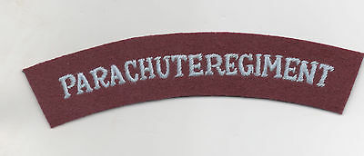 WW2 British Army Parachute Regt shoulder title, serriffed letters